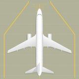 Αεροπλάνο Τοπ όψη Στοκ Φωτογραφία