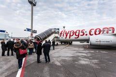 Αεροπλάνο του Boeing 737-800 Pegasus Στοκ εικόνα με δικαίωμα ελεύθερης χρήσης