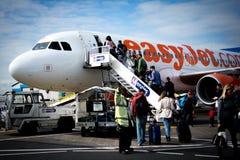 Αεροπλάνο τροφής easyjet Στοκ Φωτογραφία