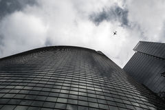 αεροπλάνο υπερυψωμένο Στοκ φωτογραφίες με δικαίωμα ελεύθερης χρήσης