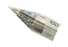 Αεροπλάνο χρημάτων Στοκ φωτογραφίες με δικαίωμα ελεύθερης χρήσης