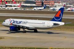 Αεροπλάνο airbus A320 Στοκ εικόνα με δικαίωμα ελεύθερης χρήσης