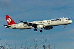 Αεροπλάνο airbus A321 Στοκ φωτογραφία με δικαίωμα ελεύθερης χρήσης