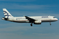 Αεροπλάνο airbus A320 Στοκ φωτογραφία με δικαίωμα ελεύθερης χρήσης