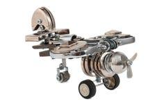 Αεροπλάνο Steampunk. απεικόνιση αποθεμάτων
