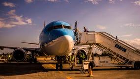 Αεροπλάνο Sunwing Στοκ Εικόνα