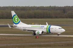 Αεροπλάνο Transavia Στοκ εικόνες με δικαίωμα ελεύθερης χρήσης
