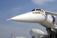 Αεροπλάνο TU-144 στο διεθνές αεροδιαστημικό σαλόνι MAKS Στοκ φωτογραφία με δικαίωμα ελεύθερης χρήσης