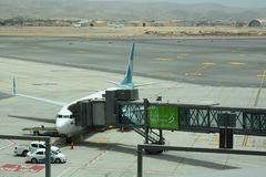 Αεροσκάφη αέρα του Ομάν στο νέο τερματικό Muscat διεθνής αερολιμένας Ομάν Στοκ Εικόνες