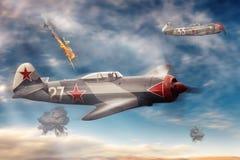 Αεροσκάφη αγώνα στον ουρανό Στοκ φωτογραφίες με δικαίωμα ελεύθερης χρήσης
