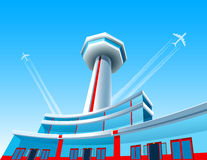 Αεροσκάφη & αερολιμένας ελεύθερη απεικόνιση δικαιώματος