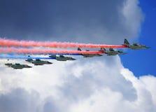 Αεροσκάφη επίθεσης κατά την πτήση Στοκ εικόνες με δικαίωμα ελεύθερης χρήσης