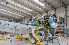 Αεροσκάφη στο εργαστήριο Στοκ Εικόνες