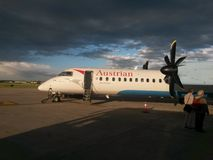 Αεροσκάφη της Austrian Airlines Στοκ εικόνα με δικαίωμα ελεύθερης χρήσης