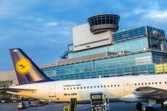 Αεροσκάφη της Lufthansa Στοκ εικόνα με δικαίωμα ελεύθερης χρήσης