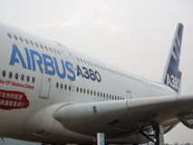 A380 αεροσκάφη Στοκ εικόνες με δικαίωμα ελεύθερης χρήσης