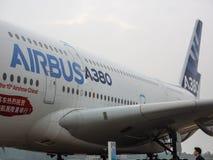 A380 αεροσκάφη Στοκ φωτογραφία με δικαίωμα ελεύθερης χρήσης