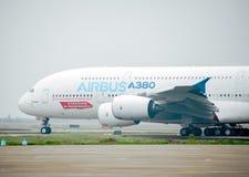 A380 αεροσκάφη Στοκ Φωτογραφίες