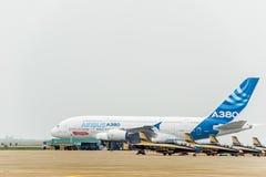 A380 αεροσκάφη Στοκ Φωτογραφία
