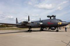 Αεροσκάφη Ilyushin IL-38 σε μια περιοχή έκθεσης Στοκ Εικόνα