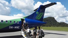 Αεροσκάφη Maswings στον αερολιμένα Mulu Στοκ Εικόνες