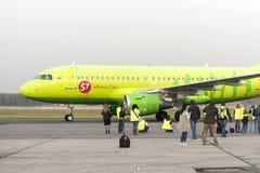 Αεροσκάφη Spotter που φωτογραφίζονται κατά τη διάρκεια του ταξί Στοκ εικόνες με δικαίωμα ελεύθερης χρήσης