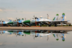 Αεροσκάφη Sukhoi SU-27 γραμμών Στοκ φωτογραφία με δικαίωμα ελεύθερης χρήσης