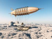 Αεροσκάφος φαντασίας πέρα από τα σύννεφα απεικόνιση αποθεμάτων