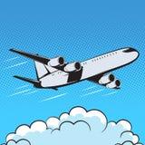 Αεροσκαφών αναδρομικός αέρας τέχνης ύφους λαϊκός Στοκ Φωτογραφία