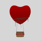 Αεροστατική αγάπη καρδιών μπαλονιών Στοκ εικόνα με δικαίωμα ελεύθερης χρήσης