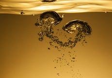 Αεροφυσαλίδες στο νερό Στοκ Εικόνες