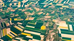 Αεροφωτογραφία πέρα από τα προάστια του Παρισιού στοκ εικόνα με δικαίωμα ελεύθερης χρήσης