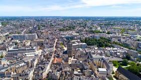 Αεροφωτογραφία του πύργου Αγίου Aubin στη Angers Στοκ φωτογραφίες με δικαίωμα ελεύθερης χρήσης