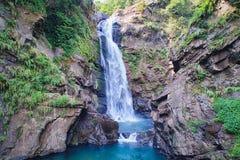 Αεροφωτογραφία του Xiao Wulai Waterfall Στοκ Εικόνες