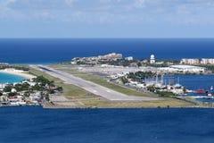 Αερολιμένας Καραϊβικές Θάλασσες του Maarten ST Martin Sint Στοκ Φωτογραφία