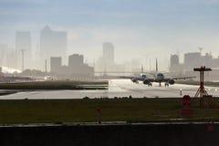 Αερολιμένας πόλεων του Λονδίνου Στοκ Φωτογραφίες