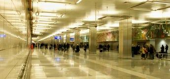 Αερολιμένας της Ιστανμπούλ Atatürk - αίθουσα εισόδων Στοκ εικόνες με δικαίωμα ελεύθερης χρήσης