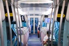 Αερολιμένας MTR σαφής στο Χονγκ Κονγκ MTR είναι το γρήγορο σύστημα σιδηροδρόμων διέλευσης στο Χονγκ Κονγκ Στοκ εικόνα με δικαίωμα ελεύθερης χρήσης