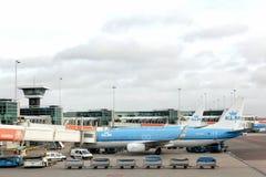 Αερολιμένας Schiphol του Άμστερνταμ στις Κάτω Χώρες Στοκ Εικόνες