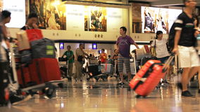 Αερολιμένας TimeLaps Χονγκ Κονγκ απόθεμα βίντεο