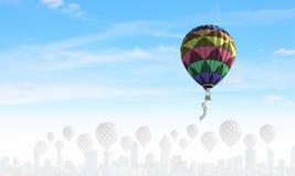 Αερόστατα στον ουρανό Στοκ Φωτογραφία