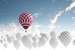 Αερόστατα στον ουρανό Στοκ Φωτογραφίες