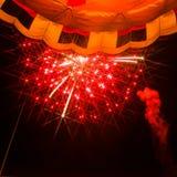 Αερόστατο νύχτας Στοκ Φωτογραφία
