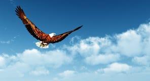 Αετός που πετά σε ένα υπόβαθρο του μπλε ουρανού Στοκ Φωτογραφίες