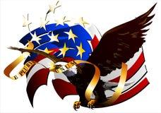 Αετός των Ηνωμένων Πολιτειών. (Διάνυσμα) απεικόνιση αποθεμάτων