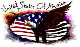 Αετός των Ηνωμένων Πολιτειών. (Διάνυσμα) Στοκ Εικόνες