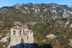 ΑΖΕΝΟΒΓΚΡΑΝΤ, ΒΟΥΛΓΑΡΙΑ - 1 ΟΚΤΩΒΡΊΟΥ 2016: Άποψη φθινοπώρου του φρουρίου Asen ` s, Αζένοβγκραντ, Βουλγαρία Στοκ Εικόνα