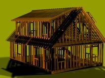 αημένη σπίτι όψη πλαισίων διανυσματική απεικόνιση