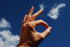 αημένος χέρι εντάξει singal Στοκ εικόνα με δικαίωμα ελεύθερης χρήσης