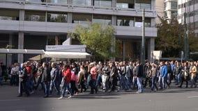Αθήνα, Ελλάδα - 15 Νοεμβρίου 2017: ειρηνική διαμαρτυρία κοντά στην πλατεία Sintagmatos φιλμ μικρού μήκους